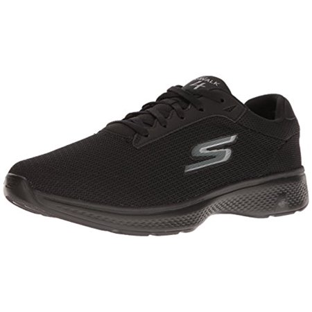 54156 Extra Wide Black Skechers Shoe Go Walk 4 Men Sport Casual Mesh Comfort