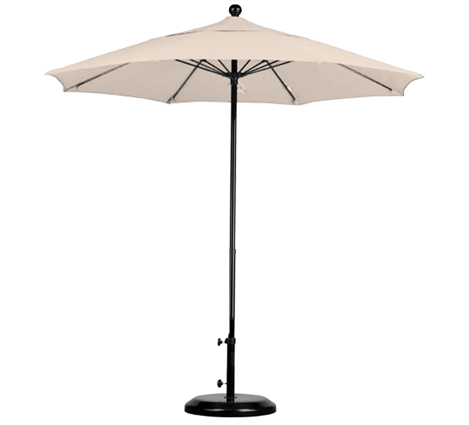 Awesome 7.5u0027 Hawaiian Tropic Patio Umbrella, With Steel Pole, Tilt Feature, And  Pulley