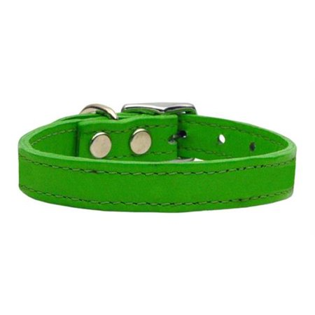 Plain Leather Collars Emerald Green 18