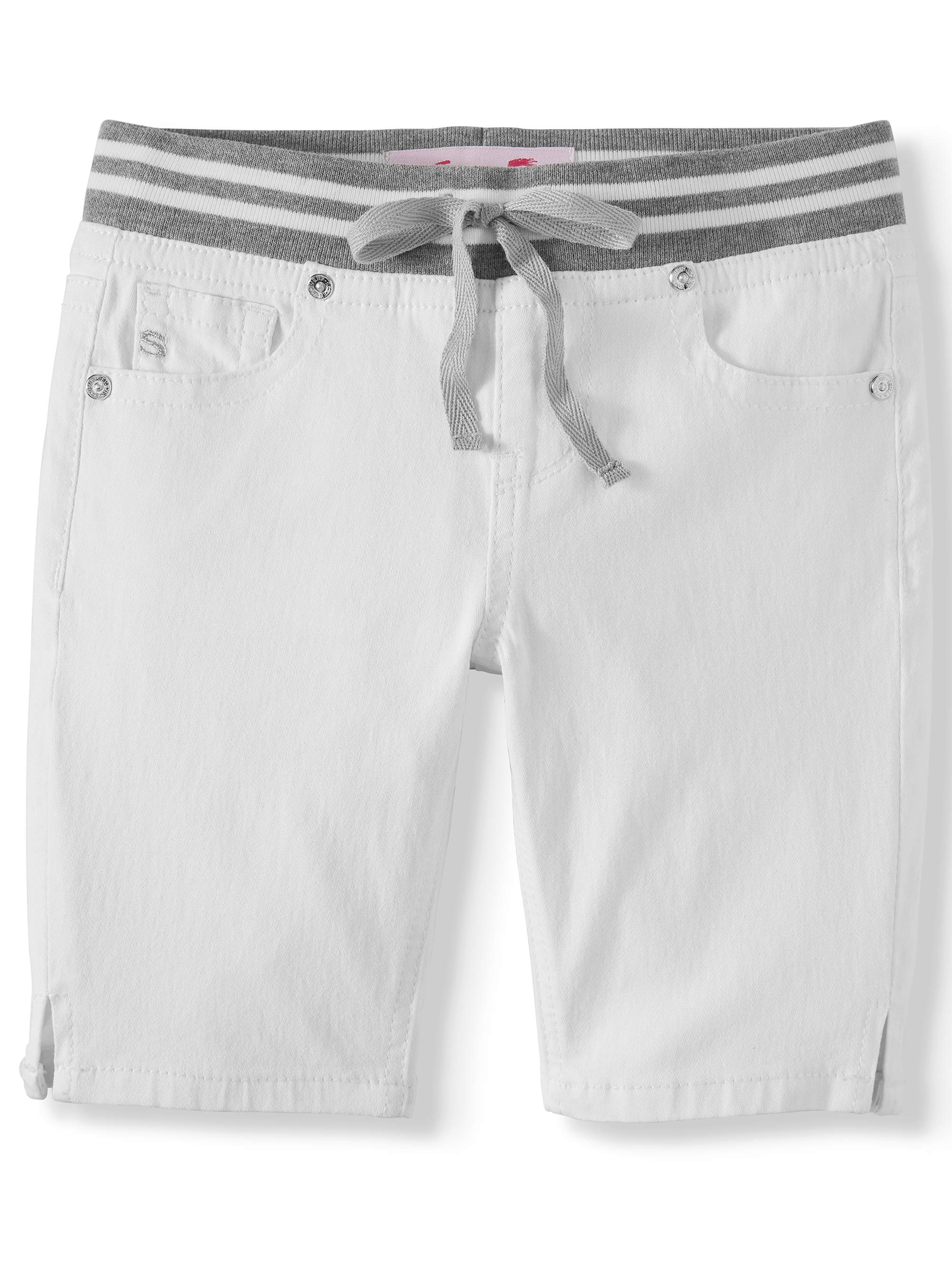 Knit Waist Denim Bermuda Short (Big Girls)