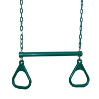 Swing-N-Slide Heavy Duty Ring and Trapeze Combination Swing with Coated Chains