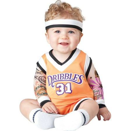 Infant Double Dribble Basketball Player Costume by Incharacter Costumes LLC 16042 - Football Player Costume Diy