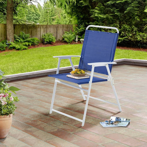 Mainstays Folding Sling Chair,royal Blue