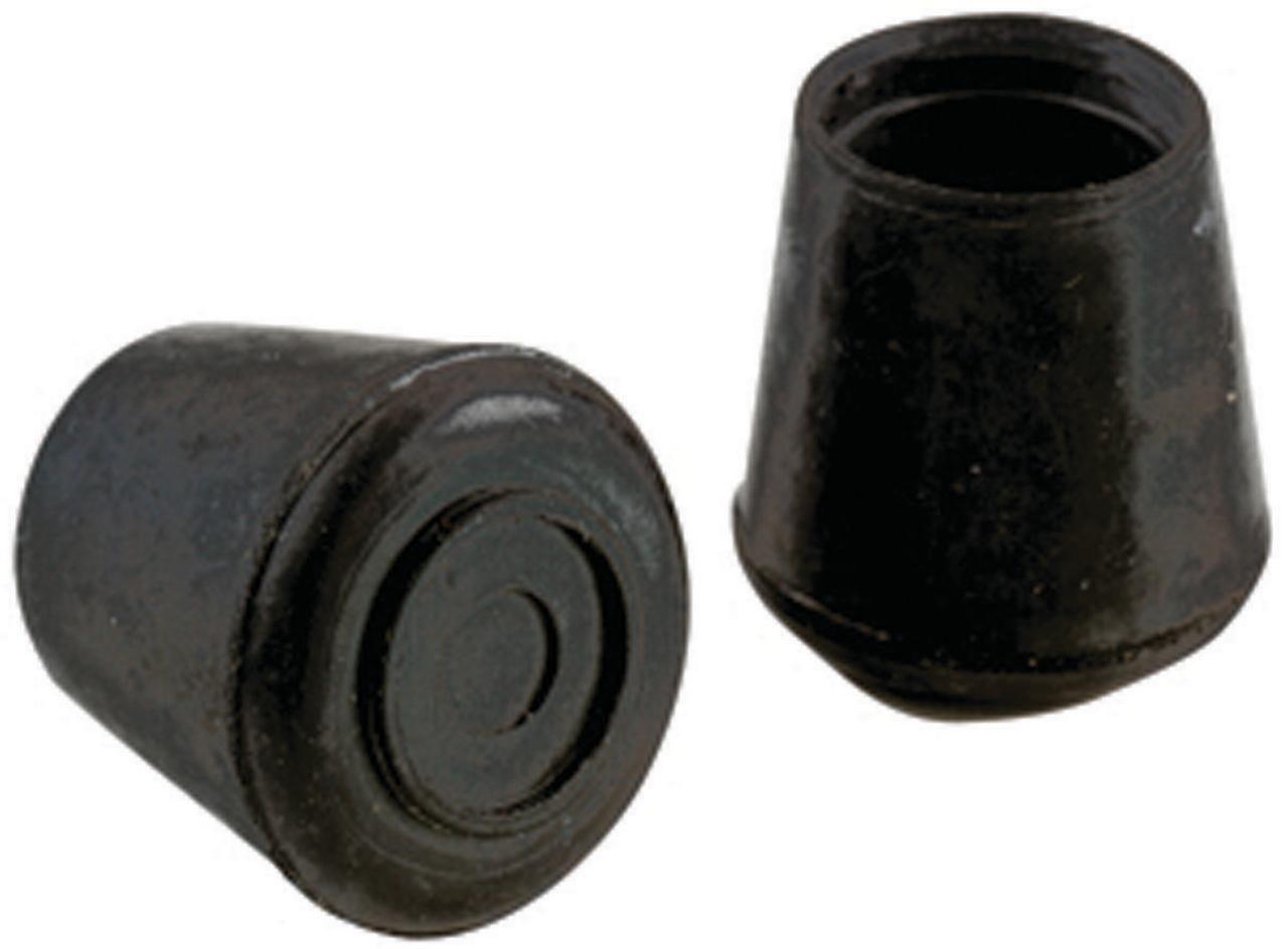 """Shepherd 9129 4 Count 1-1//8/"""" Black Rubber Leg Tips"""