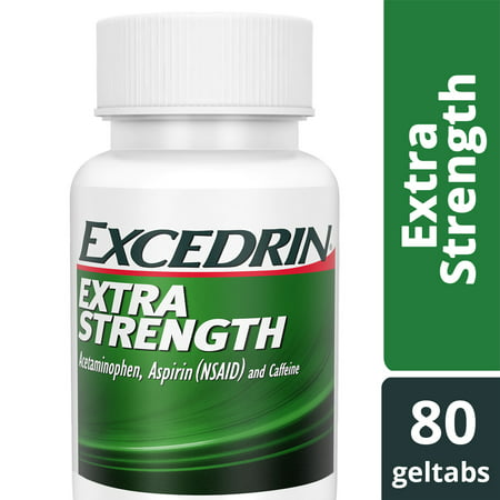 Excedrin Extra Strength for Headache Relief, Geltabs, 80