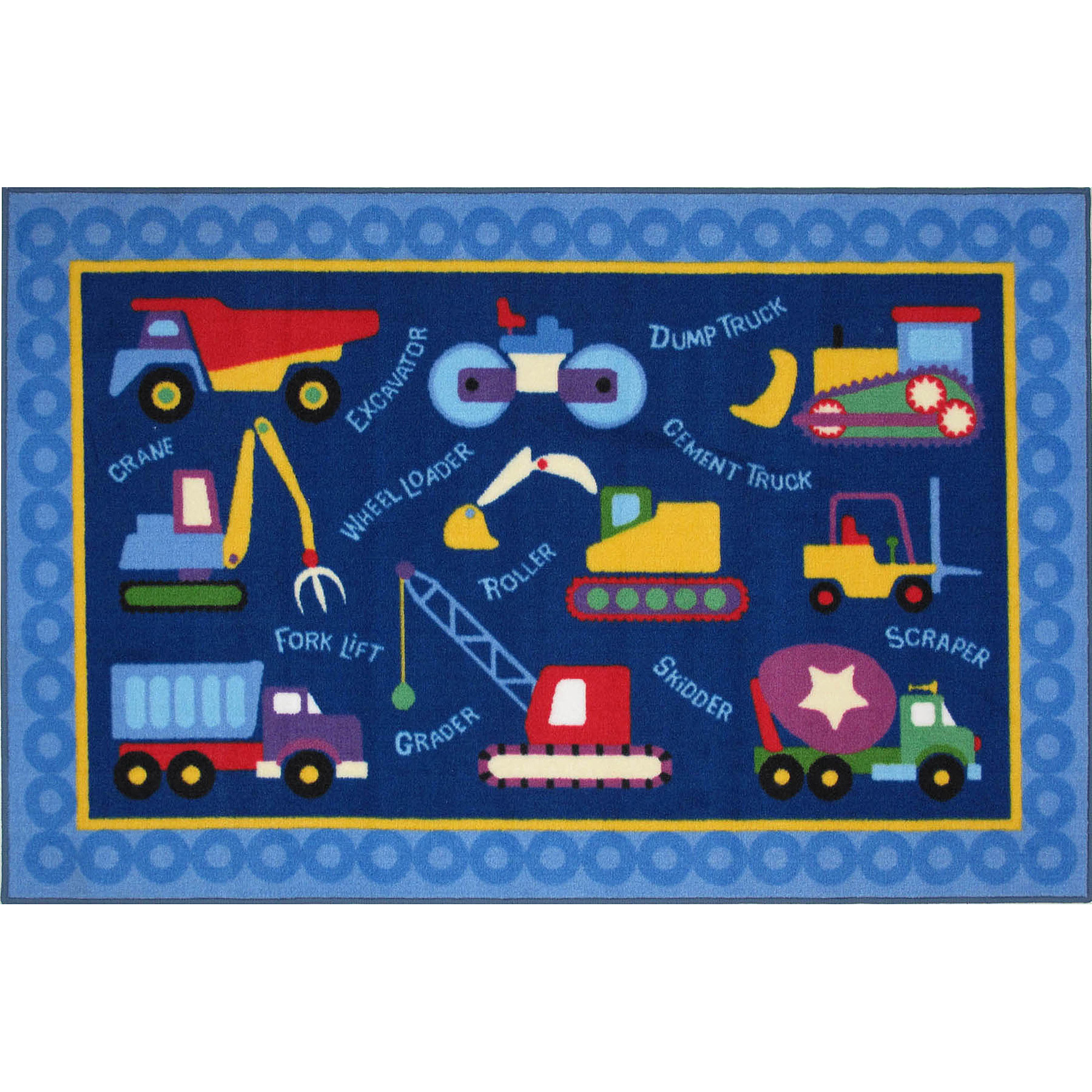 "Fun Rugs Olive Kids Under Construction  39"" x 58"" Rug"