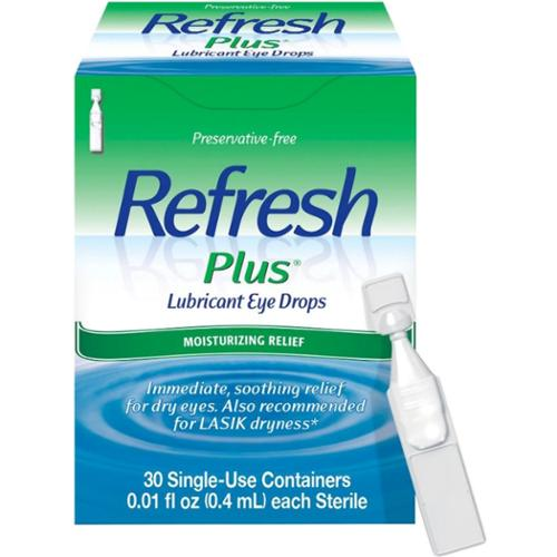 REFRESH PLUS Lubricant Eye Drops Single-Use Containers 30 Each (Pack of 3)