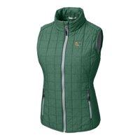 Miami Hurricanes Cutter & Buck Women's Rainier Full-Zip Puffer Vest - Green