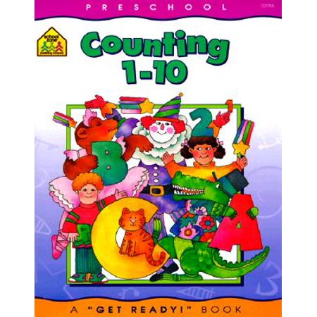 School Zone Preschool Workbooks, Counting 1-10