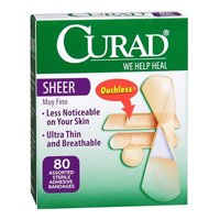 Curad Bandages Sheer Assorted Sizes - 80 Ea, 2 Pack