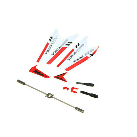 Full Set Replacement Parts for Syma S107 RC Helicopter, Main Blades, Main Shaft,Tail Decorations, Tail Props, Balance Bar, Gear Set,Connect Buckle-Red Set- ()