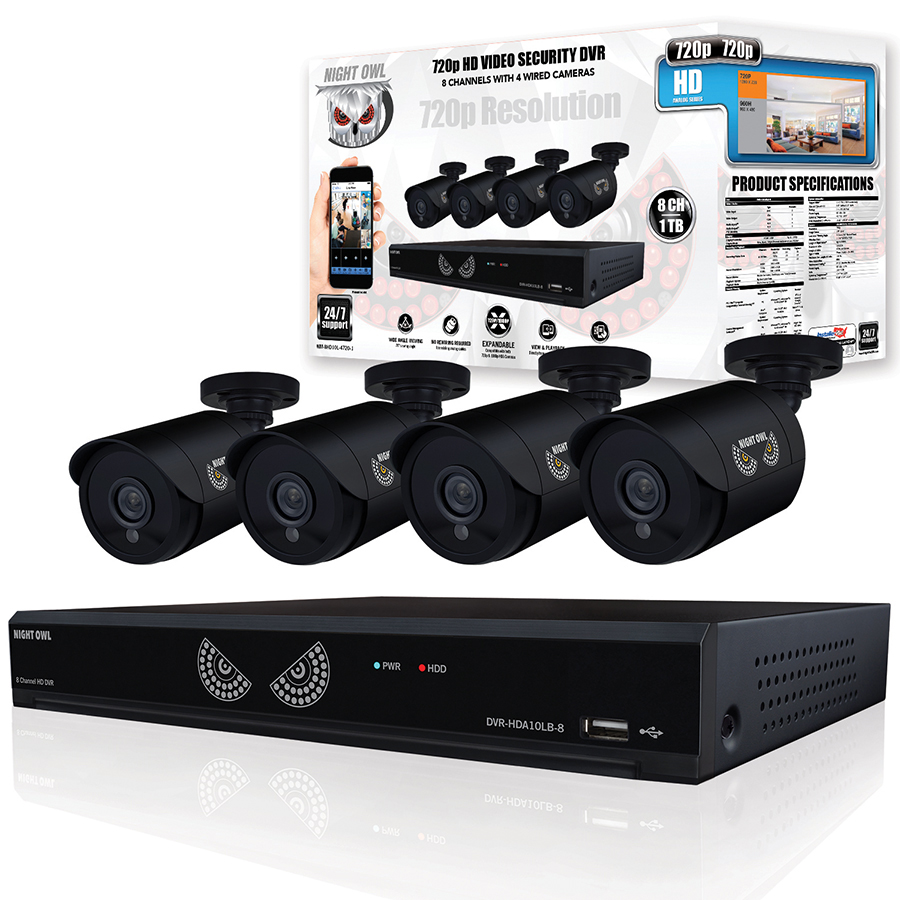 Brand NEW Night Owl 8-Channel 4-Camera 1080p Security System w// 1TB HDD DVR