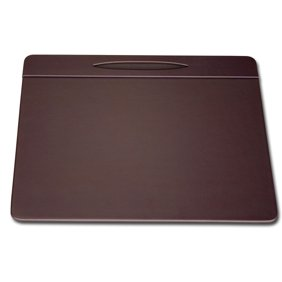 Dacasso Rustic Brown Leather Conference Table Pad With Pen Well - Leather conference table pads