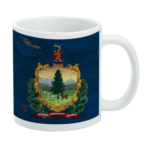 Rustic Vermont State Flag Distressed Usa White Mug Walmart Com Walmart Com