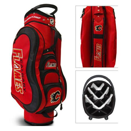 Team Golf 13335 NHL Calgary Flames Medalist Cart Bag 14 Way by