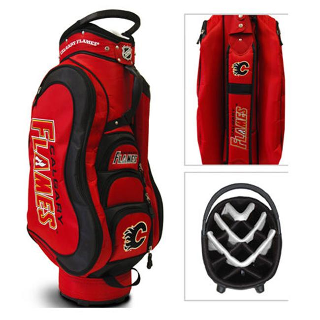 Team Golf 13335 NHL Calgary Flames Medalist Cart Bag - 14 Way