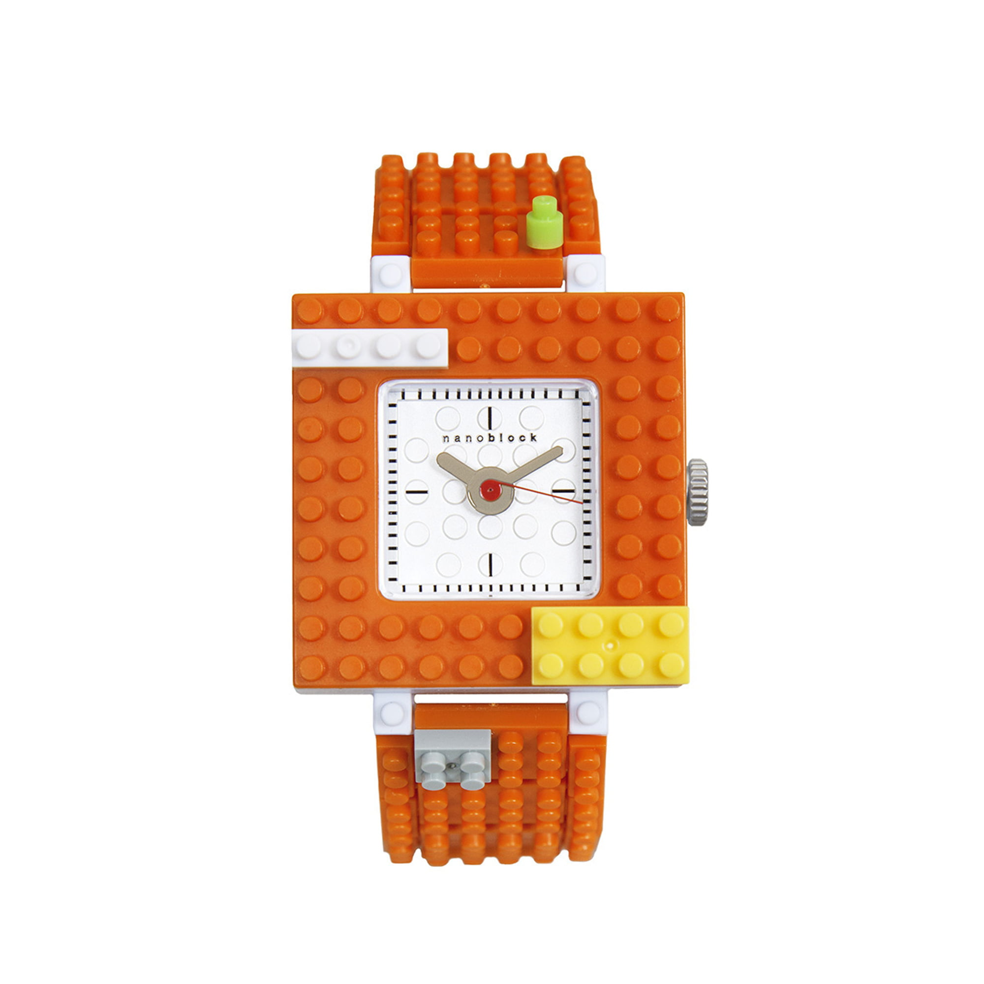 Nanoblocktime Nano Squared Watch, Orange by Beta Enteprises Inc.