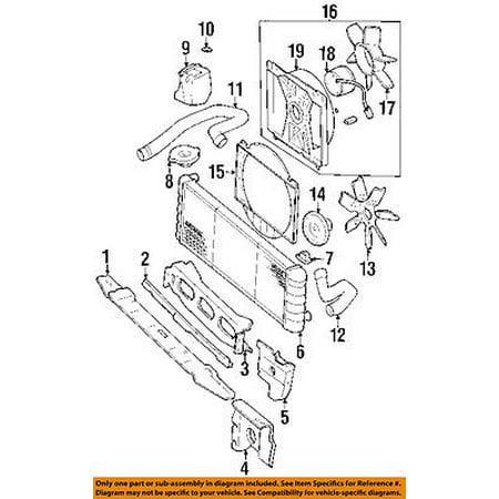 Jeep CHRYSLER OEM 92-94 Cherokee-Radiator Cooling Fan