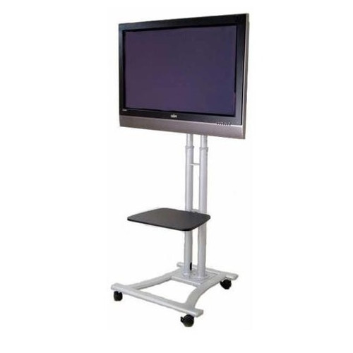 MonMount Mobile LED LCD Flat Panel HDTV Fixed Floor Stand Mount for 27''-60'' LCD Screens by MonMount