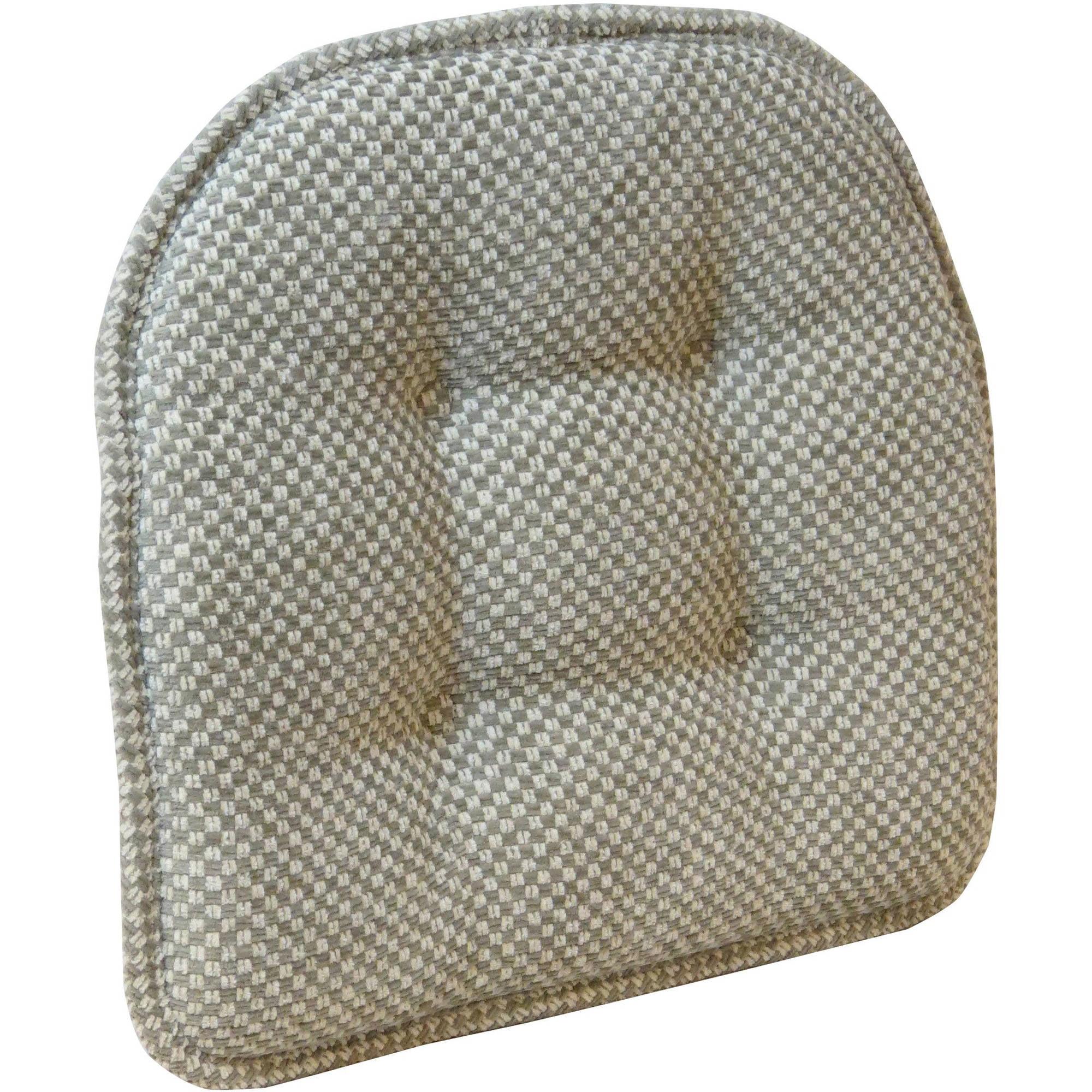 """Gripper Non Slip 15"""" x 16"""" Rembrandt Tufted Chair Cushion"""