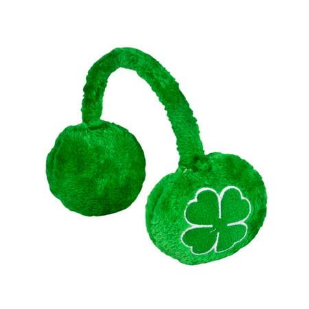 St. Patricks Day Green Irish Shamrock Ear Muffs