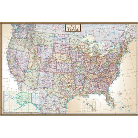30x42 United States Executive Wall Map - Laminated