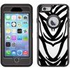 Skin Decal for Otterbox Defender iPhone 6 Case - Zebra Face Print
