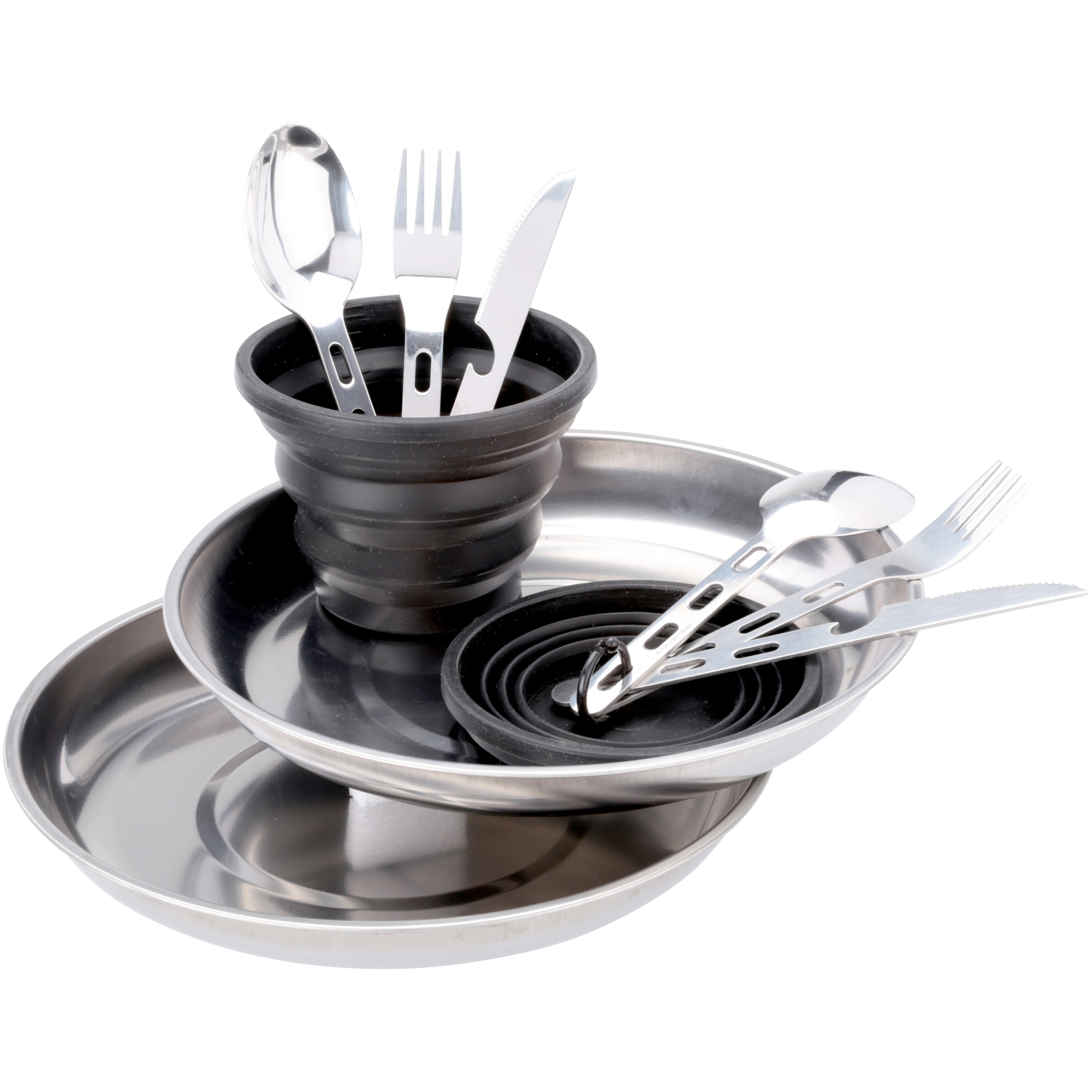 Ozark Trail 2-Person Stainless-Steel Table Setting 11 pc Pack by Wal-Mart Stores, Inc.
