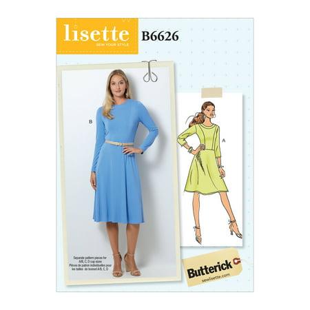 Butterick Pattern Misses'/Misses' Petite Dress Sizes 14-16-18-20-22 - Greek Dress Pattern