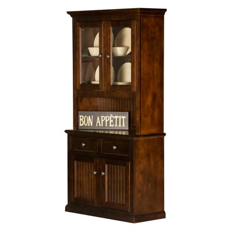Eagle Furniture 40 in. Customizable Coastal Dining Buffet with Hutch ()