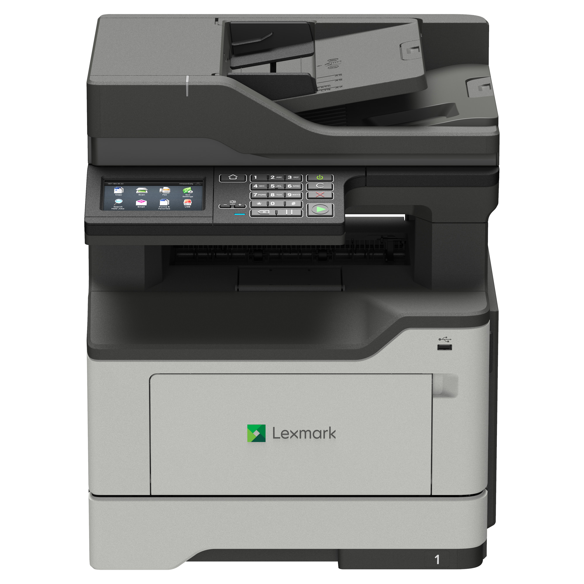 Lexmark MX421ade Mono Multifunction Laser Printer - Copy, Fax, Scan