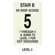 INTERSIGN NFPA-PVC1812(B1N5) NFPASgn,StairIdB,RoofAccssN,FlrsSrvd1to5 G0263527
