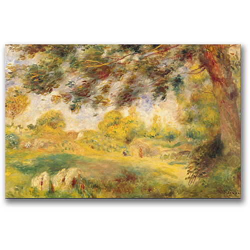"Trademark Fine Art ""Spring Landscape"" Canvas Wall Art by Pierre Renoir"