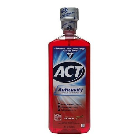 Act Act Anticavity Fluoride Mouth Rinse Alcohol Free Cinnamon, Cinnamon 18 oz (Pack of 4) Act Anticavity Fluoride Rinse Alcohol Free