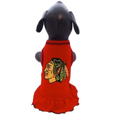 Image of Chicago Blackhawks Pet Cheerleader Dress - X-Large Size