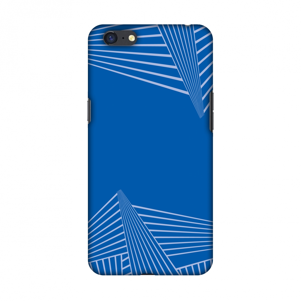 Oppo A71 Case, Premium Handcrafted Designer Hard Shell Snap On Case Printed Back Cover with Screen Cleaning Kit for Oppo A71, Slim, Protective - Carbon Fibre Redux Coral Blue 3