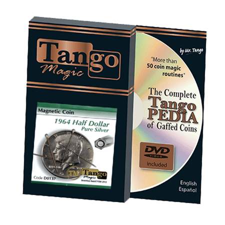 - Magnetic Coin Half Dollar 1964 (w/DVD) (D0137) by Tango - Tricks