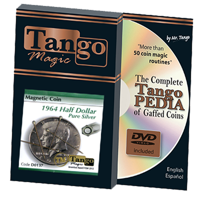 Magnetic Coin Half Dollar 1964 (w/DVD) (D0137) by Tango - Tricks