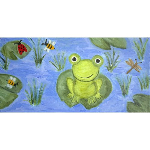 Judith Raye Paintings LLC Jennifer's Frog by Judith Raye Painting Print