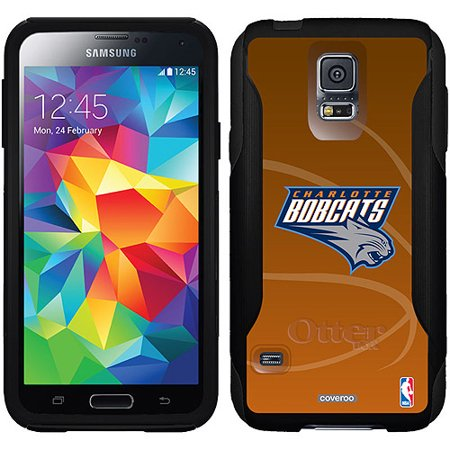Charlotte Bobcats Basketball Design on OtterBox Commuter Series Case for Samsung Galaxy S5 by