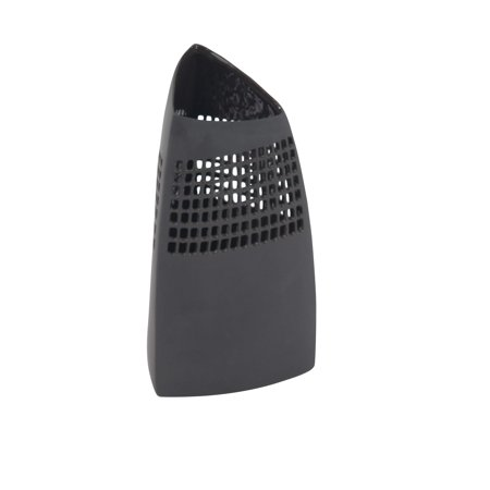 Black Ceramic Vase - Decmode Modern Ceramic Triangular Black Vase, Black