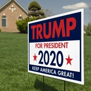 "ITC Donald Trump for President 2020 Yard Signs with H-Frames 12""x18"""