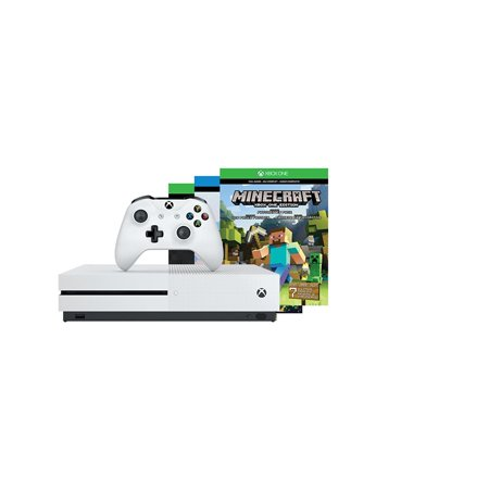 Refurbished Microsoft Xbox One S 500Gb Console  Minecraft Bundle