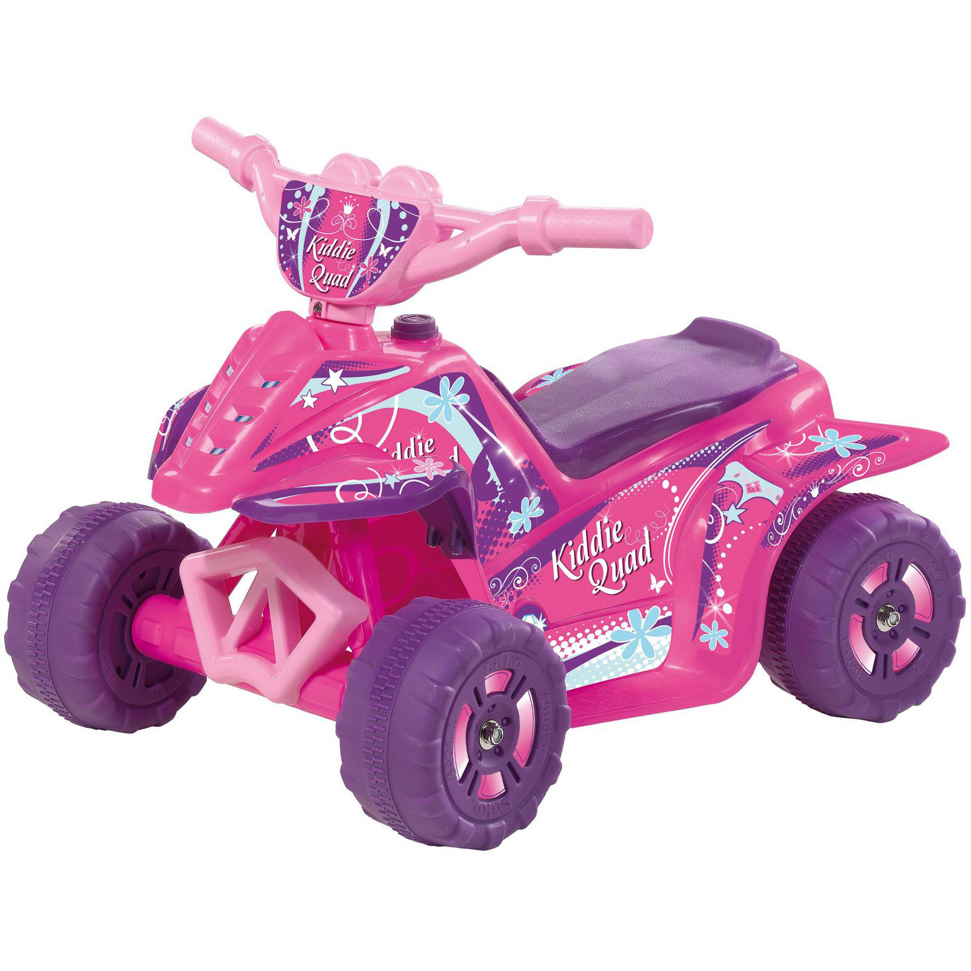 6V Kiddie Quad Battery-Powered Ride-On, Pink