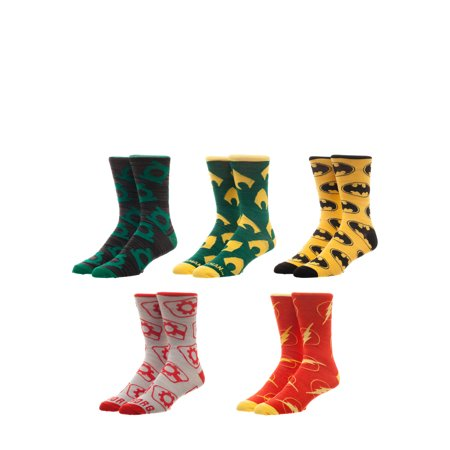 license mens justice league crew socks 5 pack - Walmart Christmas Socks