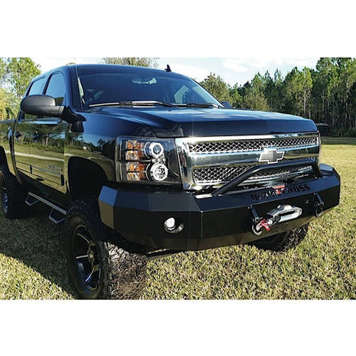 07-13 Silverado 1500 Replacement Front Bumper with Center Bar (Winch Ready)