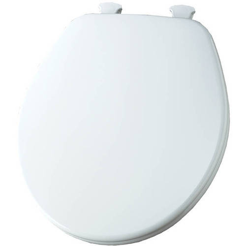 Church 540EC Lift-Off Wood Round Toilet Seat, Available in Various Colors