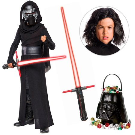Star Wars Episode VIII: The Last Jedi - Kylo Ren DLX Child Costume with Wig and Lightsaber - Size LARGE](Buy Costumes Coupons)