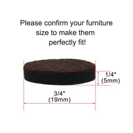 "Felt Furniture Feet Pads Round 3/4"" Dia Self Adhesive Floor Protector 8pcs - image 5 of 7"