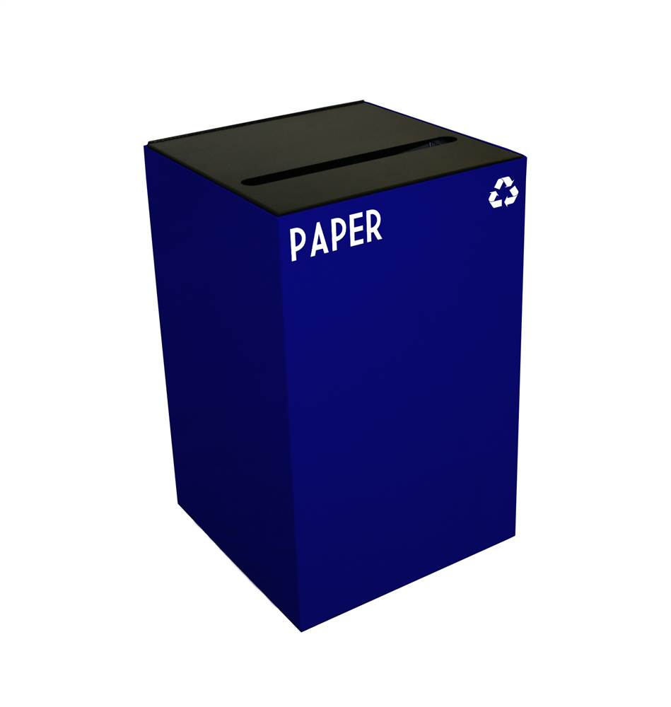 Geocube 24 Gal. Paper and Newspaper Recycling Container (Blue)